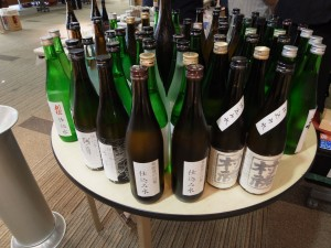 Water from different breweries, which is used to make delicious sake